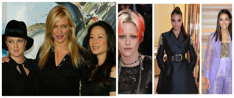 Side by side of 'Charlie's Angels' cast.