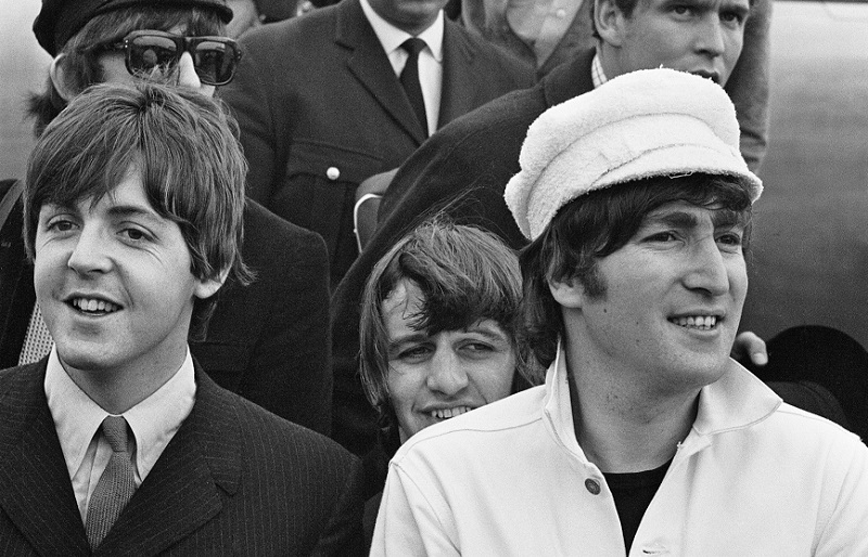 beatles leaving an airplane 1965