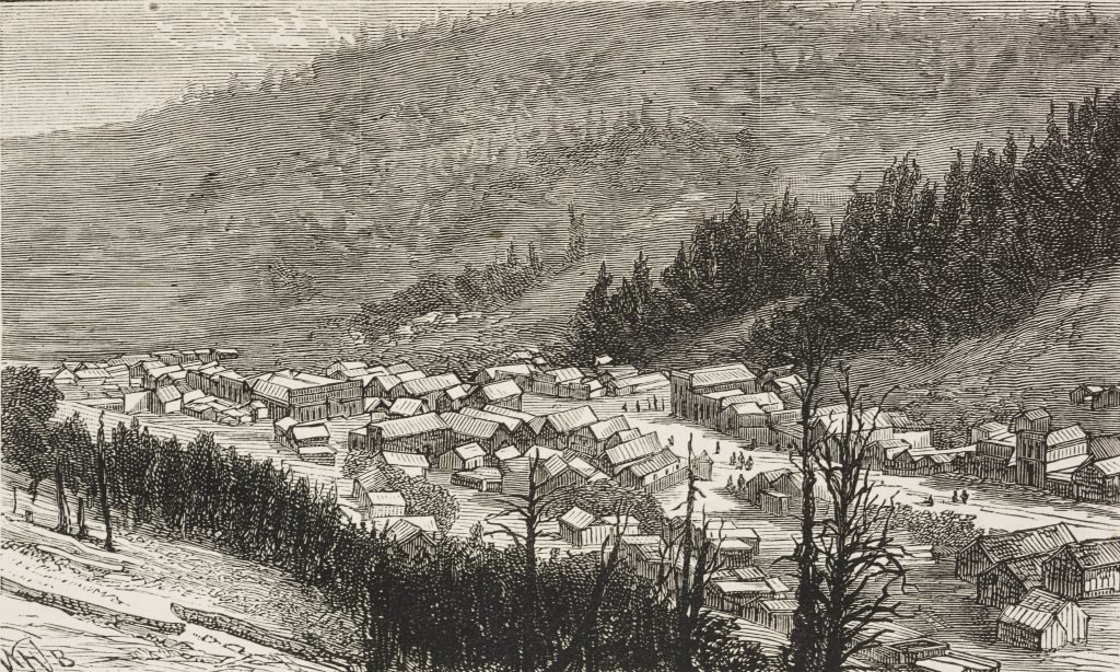 An illustration of the town of Bonanza