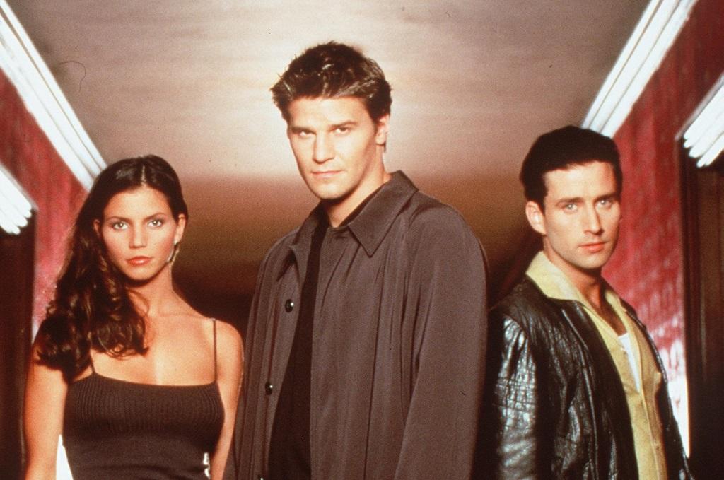Charisma Carpenter, David Boreanaz, and Glenn Quinn in Angel