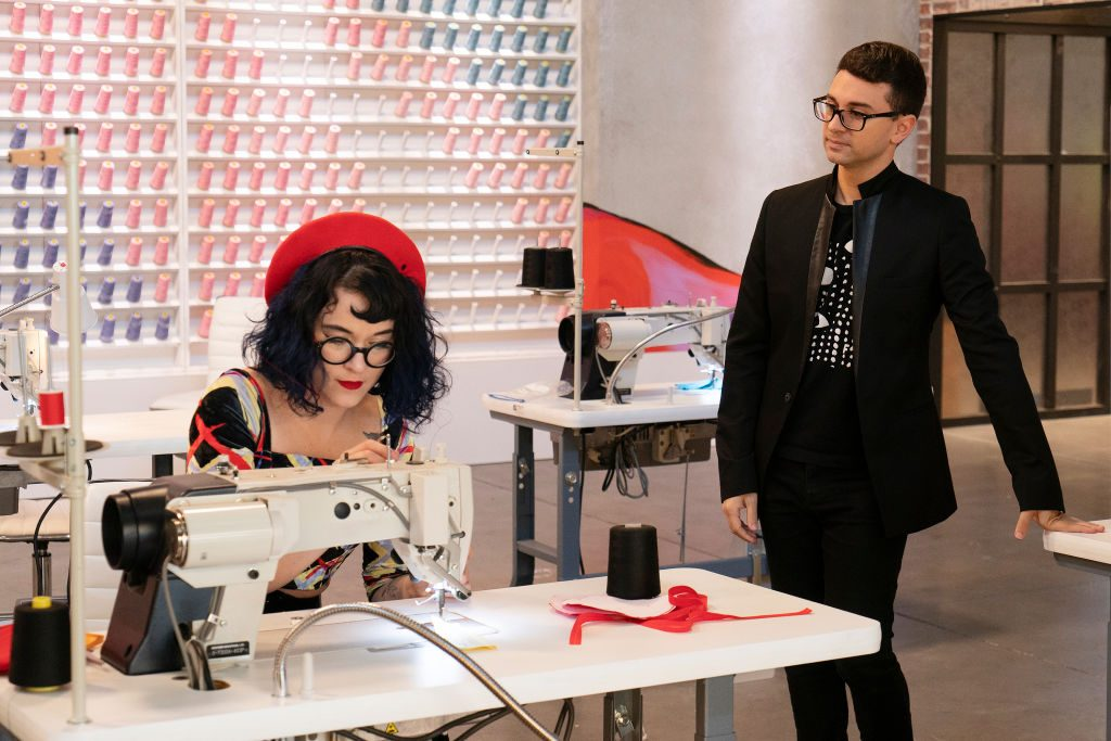 Hester Sunshine and Christian Siriano on Project Runway