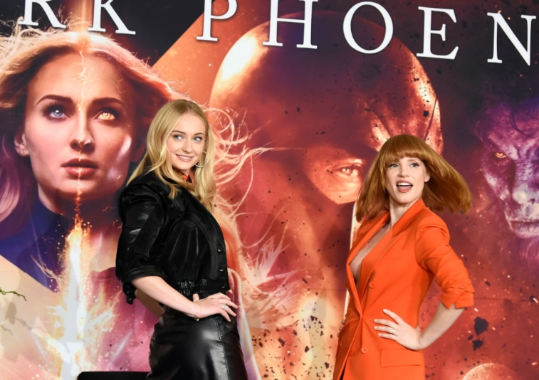 Sophie Turner and Jessica Chastain.