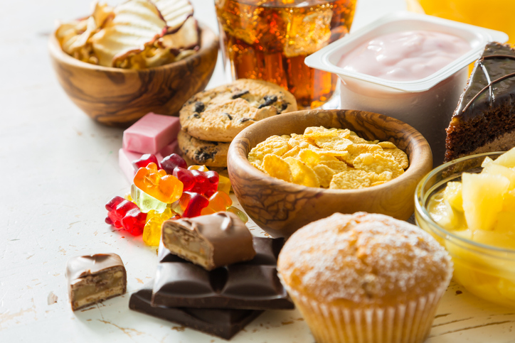 Foods that have a lot of sugar