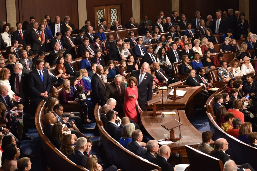 A view of the opening session of the 116th Congress
