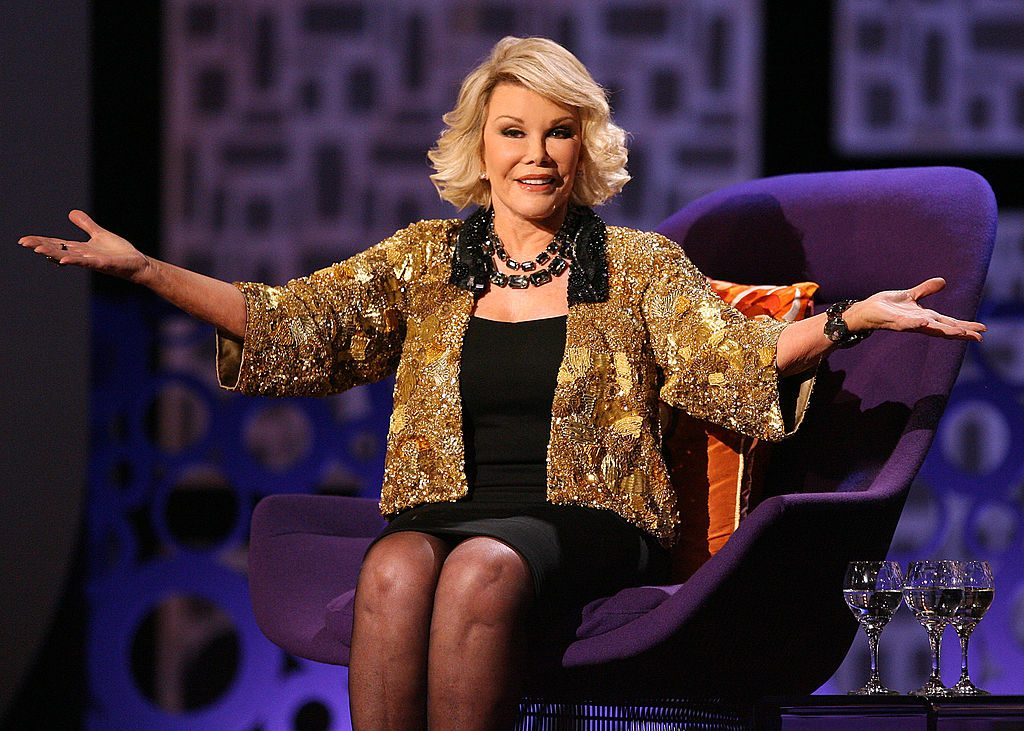 """Joan Rivers onstage during Comedy Central's """"Roast of Joan Rivers"""" at CBS Studios on July 26, 2009 in Studio City, California"""