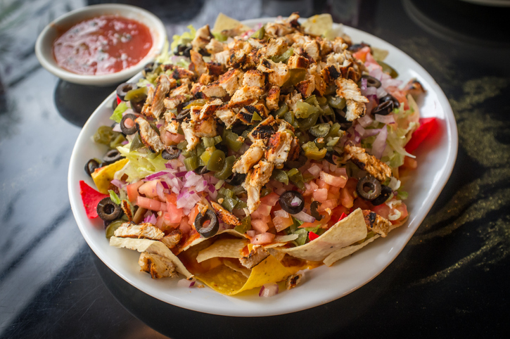 An order of loaded nachos