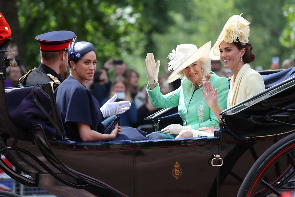 Meghan Markle and Kate Middleton Trooping The Colour 2019