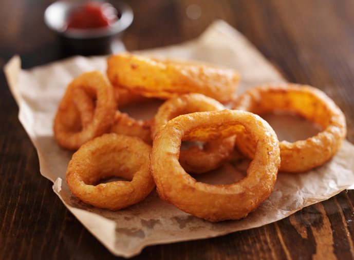 Crispy onion rings