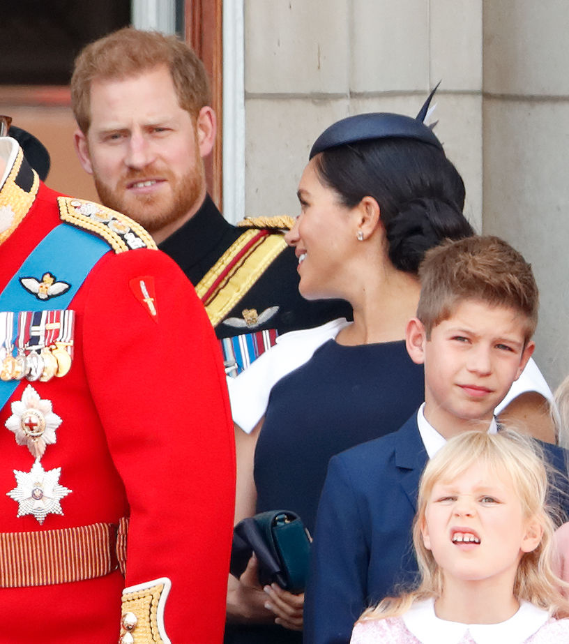 Prince Harry and Meghan Markle fight Trooping The Colour 2019