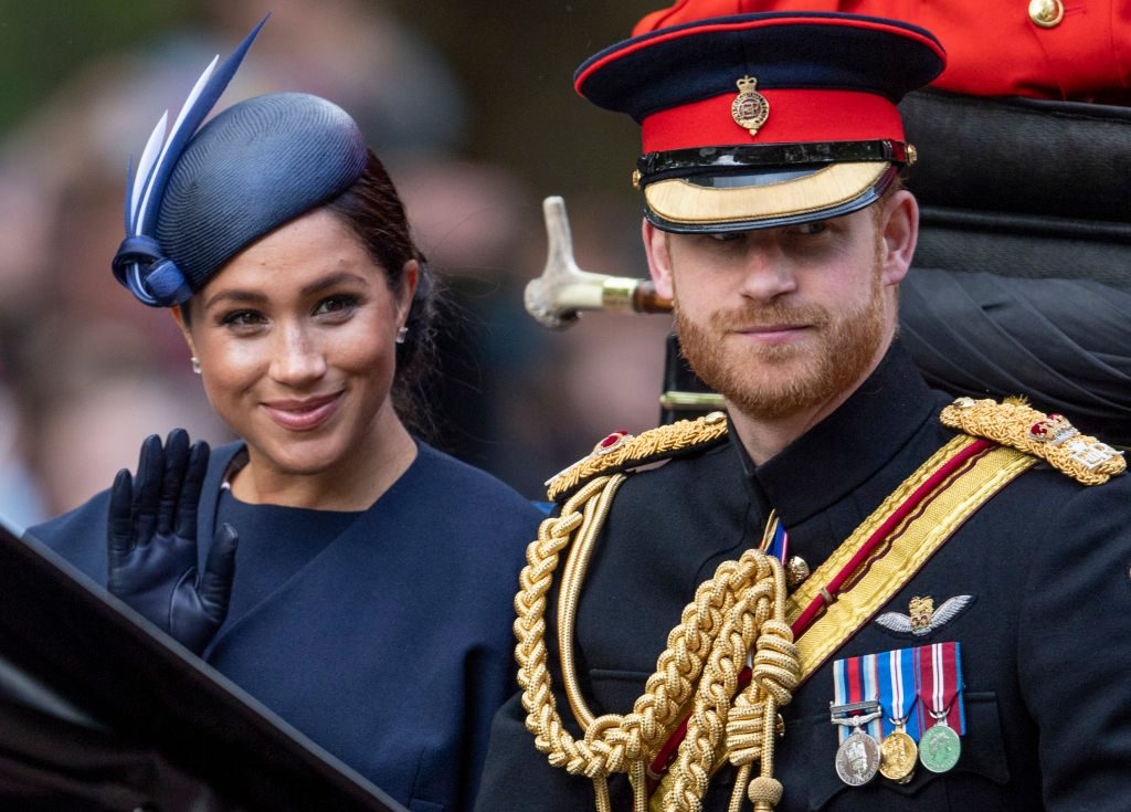 Prince Harry and Meghan Markle during Trooping The Colour, the Queen's annual birthday parade