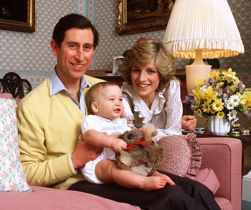 Prince Charles and Princess Diana with young Prince William