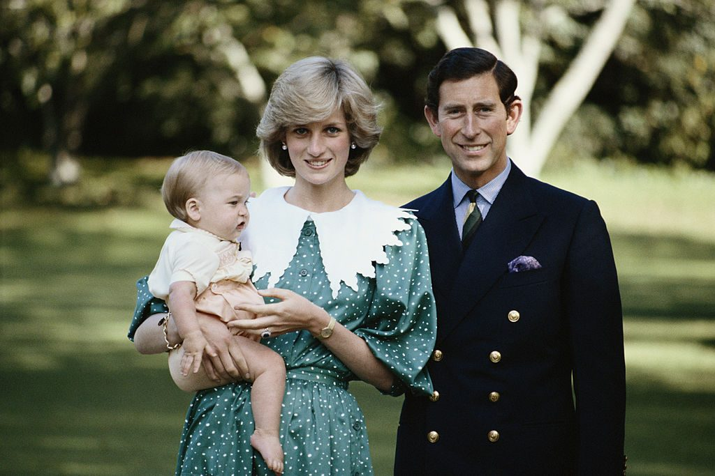Princess Diana and Prince Charles with a young Prince William
