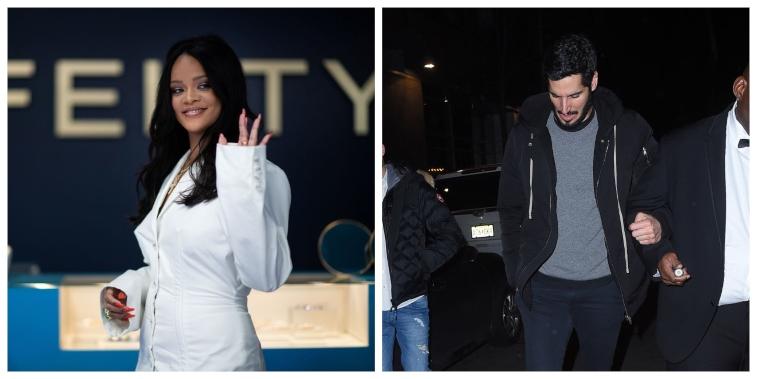 Split image of Rihanna and Hassan Jameel.