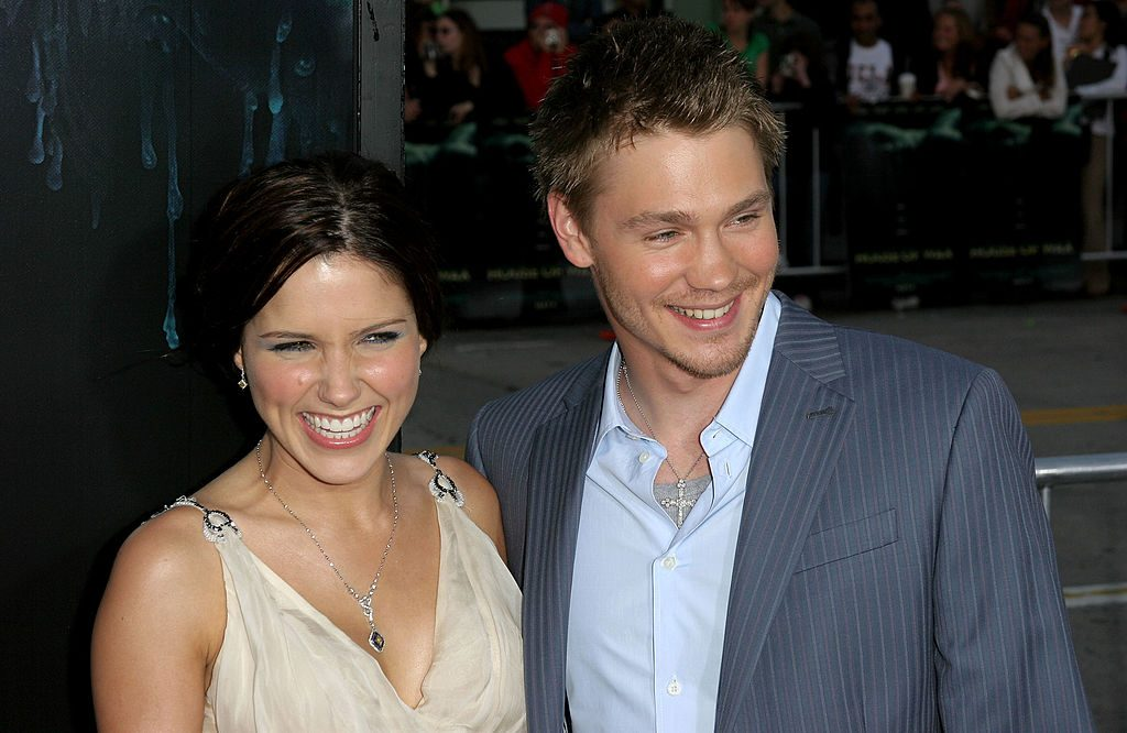 Chad Michael Murray and Sophia Bush arrive at premiere Of House Of Wax at the Mann's Village Theater on April 26, 2005, in Westwood, California.