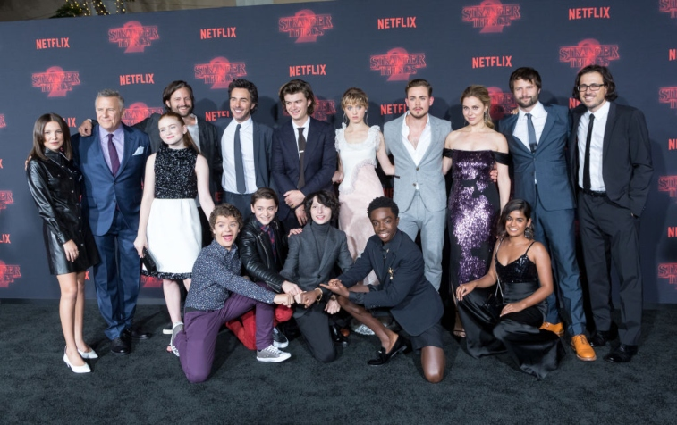 'Stranger Things' crew and cast.