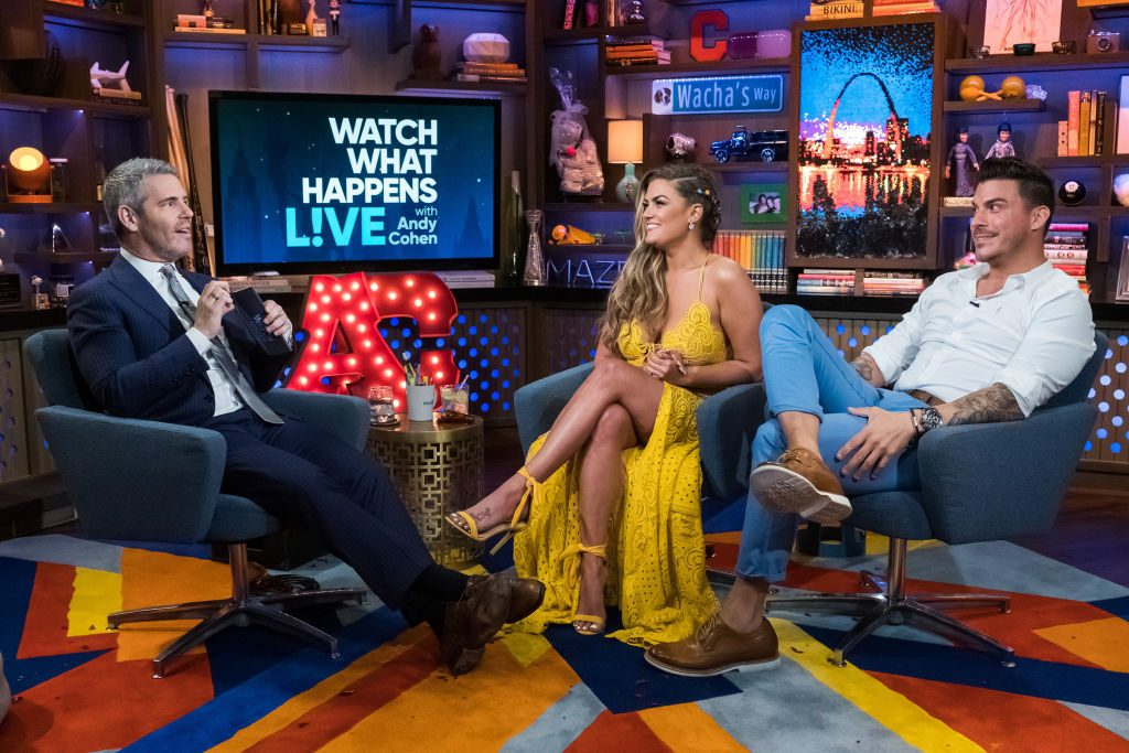 Andy Cohen, Brittany Cartwright and Jax Taylor