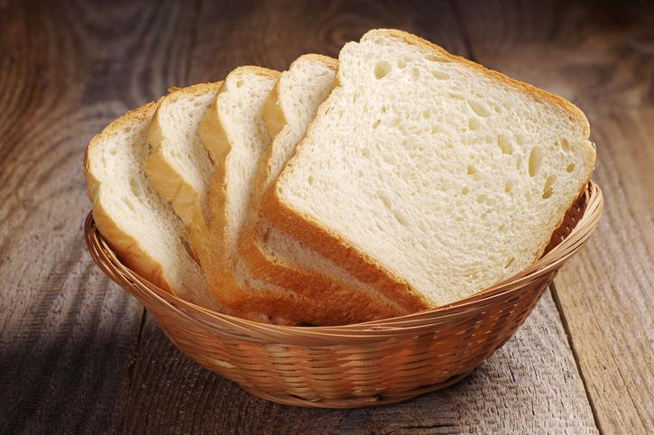 Basket of white bread