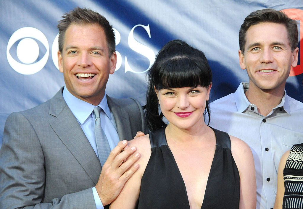 Actors Michael Weatherly, Pauley Perrette and Brian Dietzen | Barry King/FilmMagic