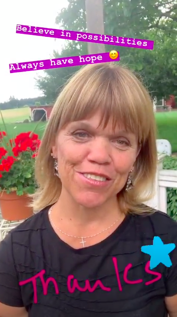 Amy Roloff on Instagram Stories