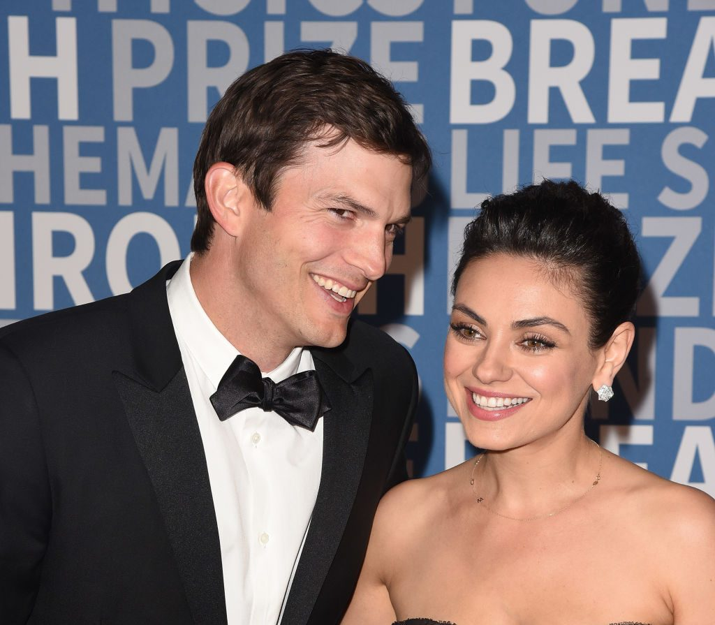 Ashton Kutcher and his wife, Mila Kunis