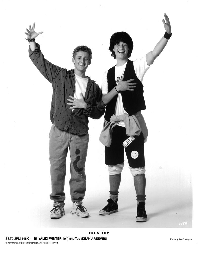 Bill and Ted original movie still - Keanu Reeves and Alex Winter