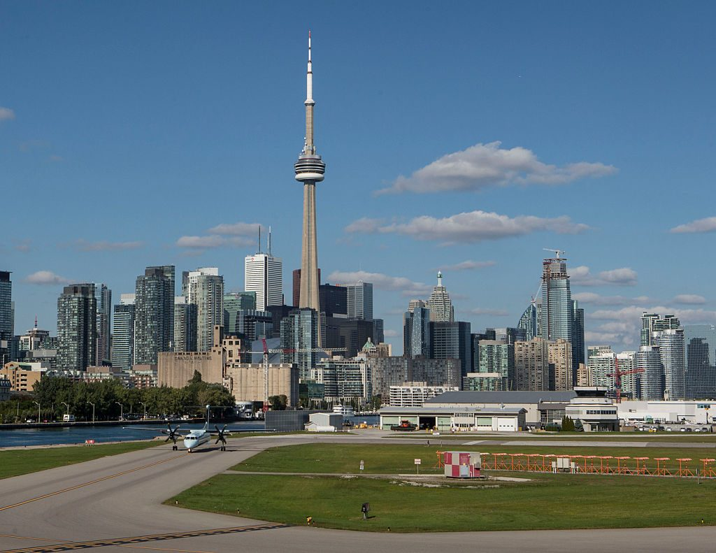 View of the Toronto Skyline from Billy Bishop Toronto City Centre Airport
