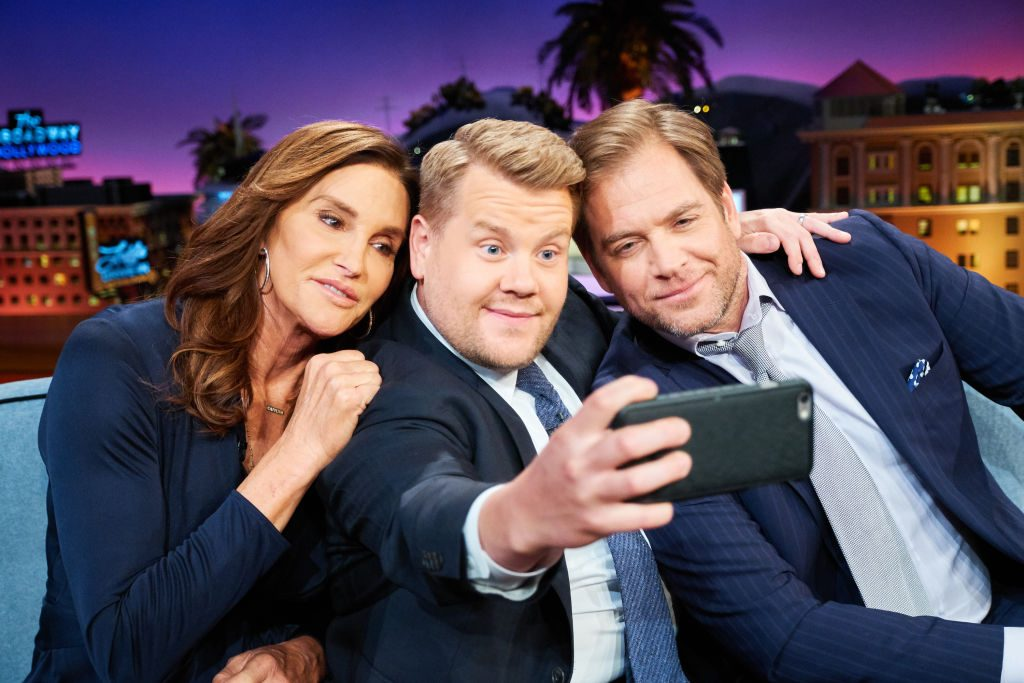 Caitlyn Jenner, James Corden, and Michael Weatherly | Terence Patrick/CBS via Getty Images
