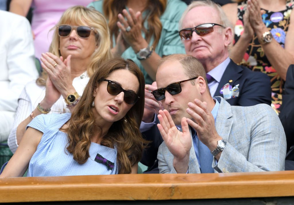 Catherine, Duchess of Cambridge and Prince William, Duke of Cambridge watch Wimbledon 2019.