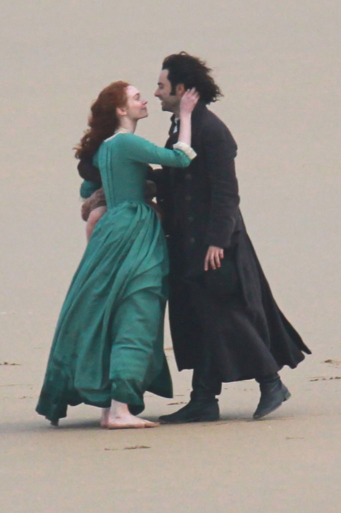 Eleanor Tomlinson and Aidan Turner as Demelza and Ross Poldark |MelMedia/GC Images