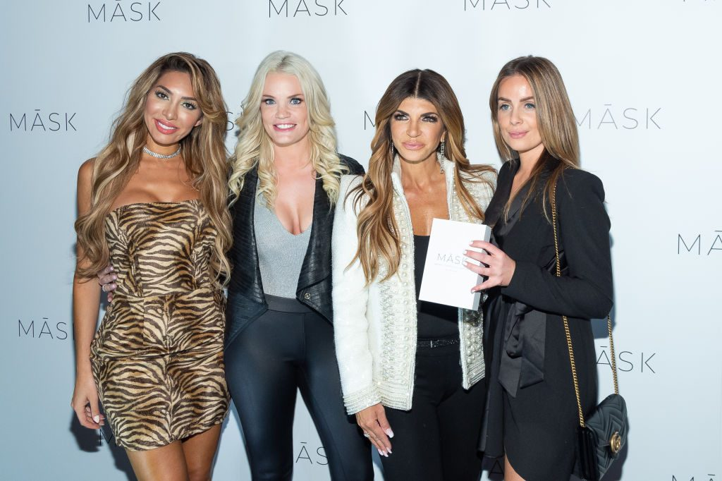 Farrah Abraham, Ashley Martson, Teresa Giudice, and Sarah Hjorthol at Hemp Garden NYC's official New York City launch hosted by Teresa Giudice, Tiffany Mejia, and Younes Bendjima in New York  | Mark Sagliocco/Getty Images