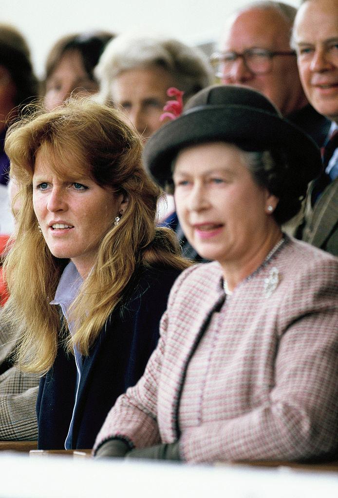 Sarah Ferguson and Queen Elizabeth