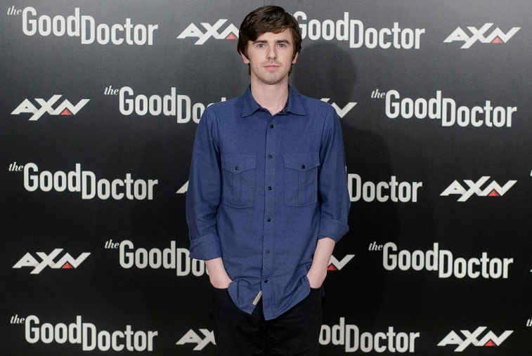 Freddie Highmore attends the 'The Good Doctor' event