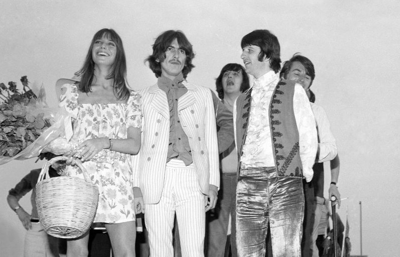 Beatles George and Ringo at Cannes