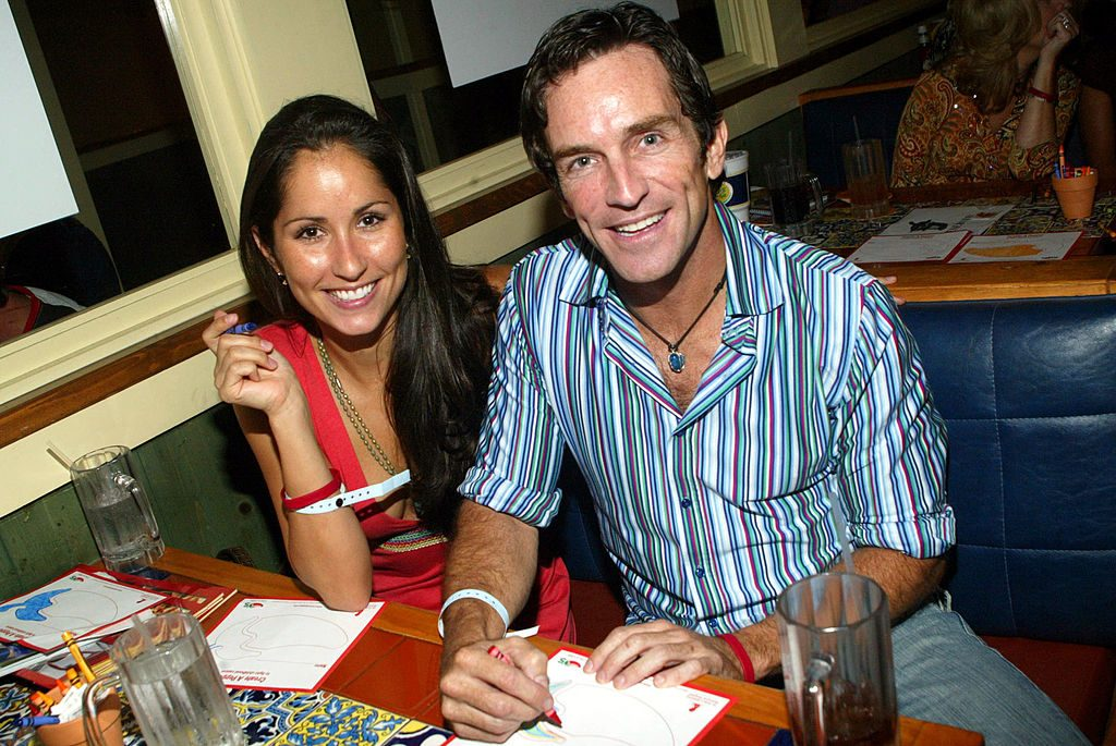 Jeff Probst and his date, contestant Julie Berry