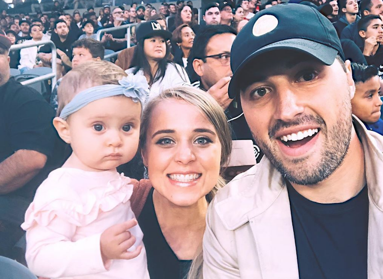 Jinger Duggar and Jeremy Vuolo with their daughter, Felicity