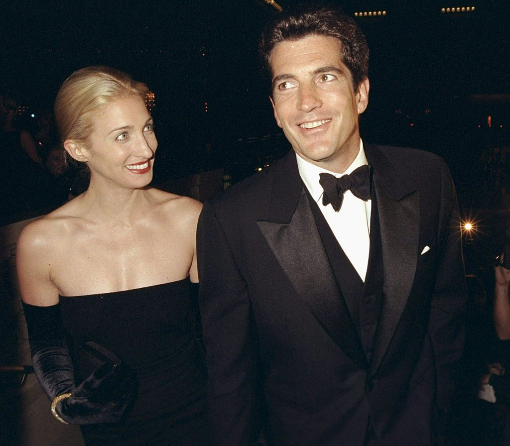 John F. Kennedy Jr. and his wife, Carolyn Bessette
