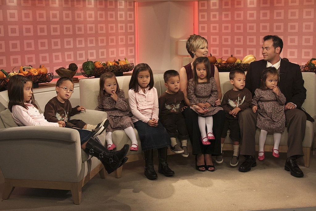 Kate Gosselin and John Gosselin talk about their twin daughters and sextuplets on NBC News' 'Today' on October 2, 2007.