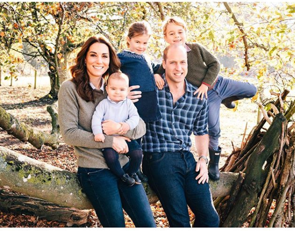 Kate Middleton, Prince William, Prince George, Princess Charlotte, and Prince Louis
