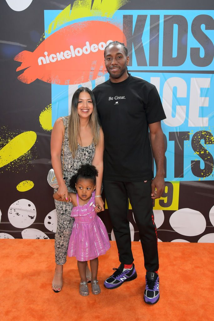 Kawhi Leonard and Kishele Shipley | Charley Gallay/Getty Images for Nickelodeon