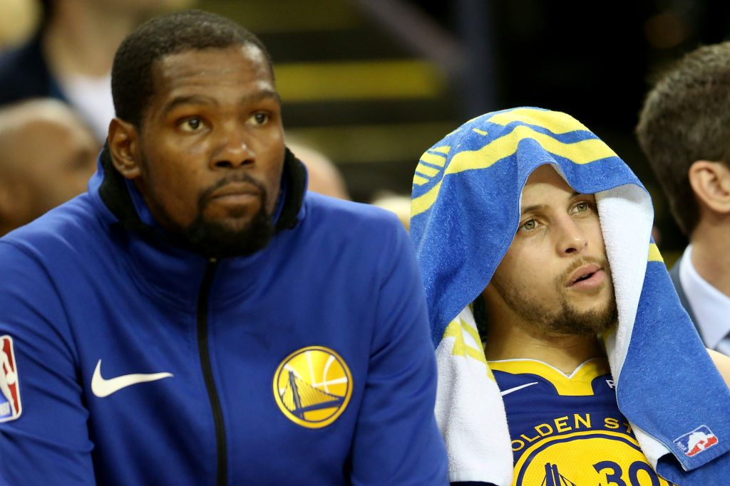 Kevin Durant and Steph Curry