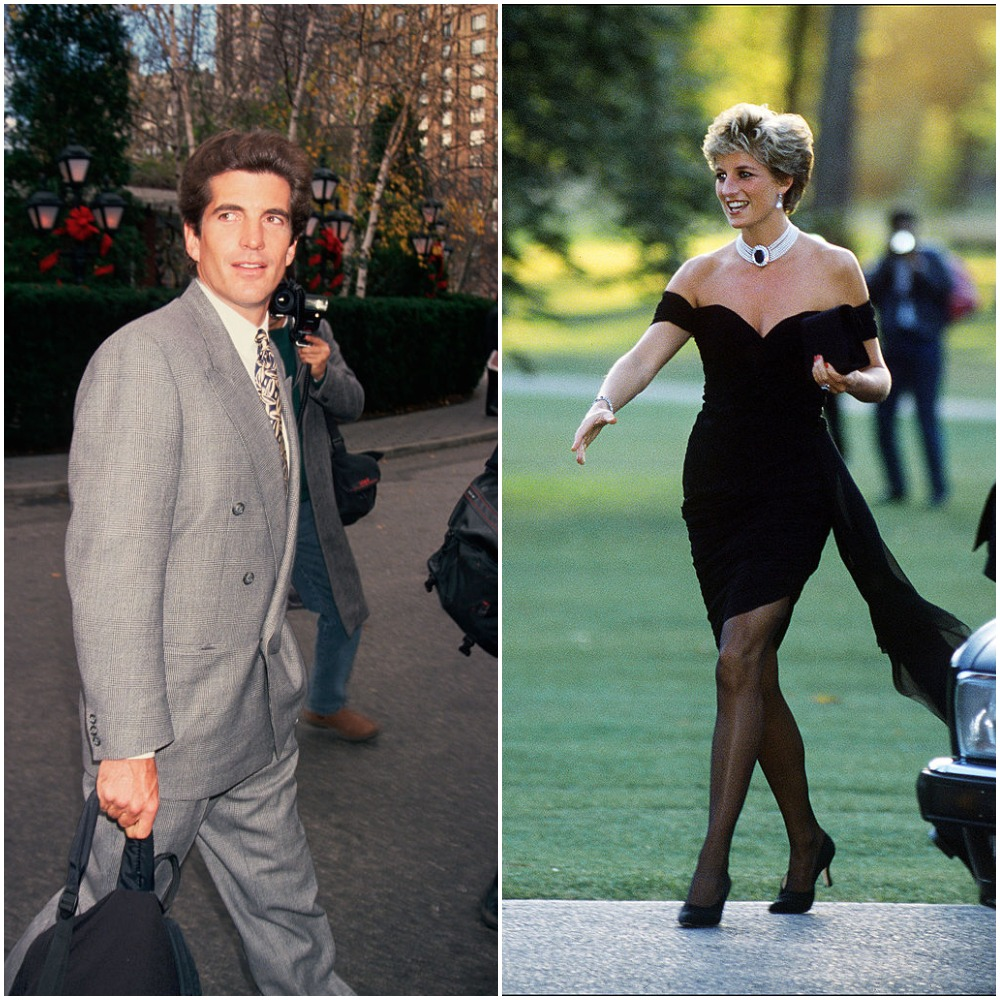 (L): JFK Jr. | Mitchell Gerber/Corbis/VCG via Getty Images, (R): Princess Diana |Jayne Fincher/Getty Images