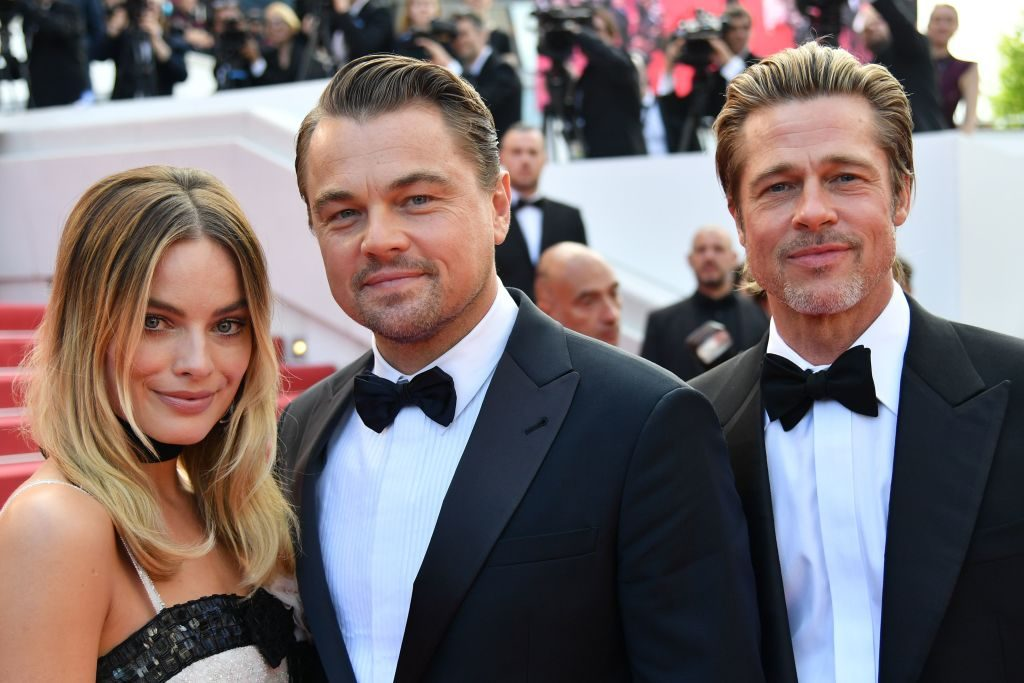 Stars of 'Once Upon a Time in Hollywood' Margot Robbie, Leonardo DiCaprio, and Brad Pitt