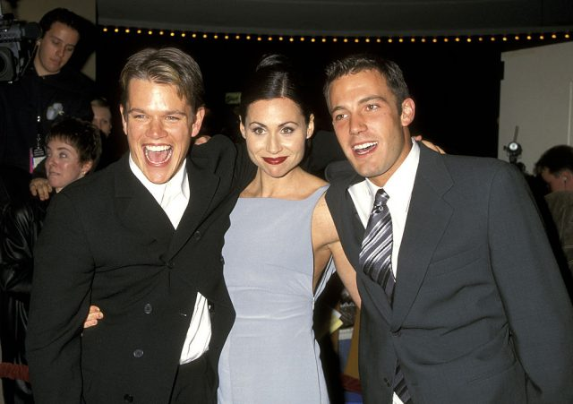 Matt Damon, Minnie Driver, and Ben Affleck.