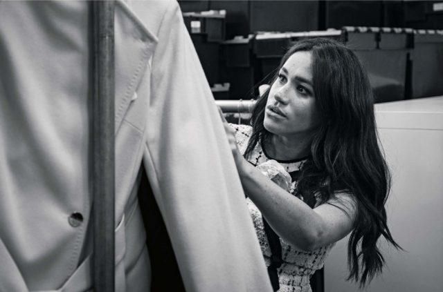 Meghan Markle, Patron of Smart Works, in the workroom of the Smart Works London office.