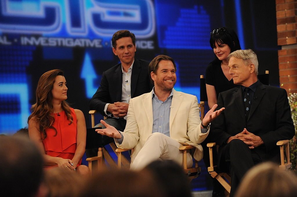 Michael Weatherly, Cote de Pablo, Pauley Perrette, Mark Harmon, and Brian Dietzen | Heather Wines/CBS via Getty Images