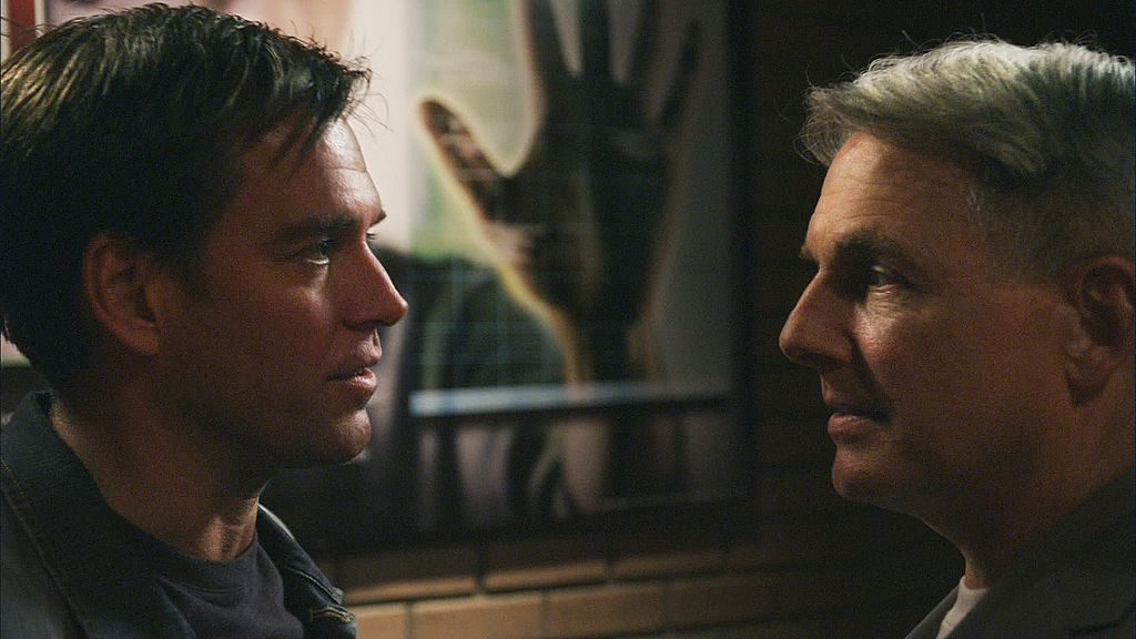 Michael Weatherly and Mark Harmon    Screen Grab by CBS via Getty Images
