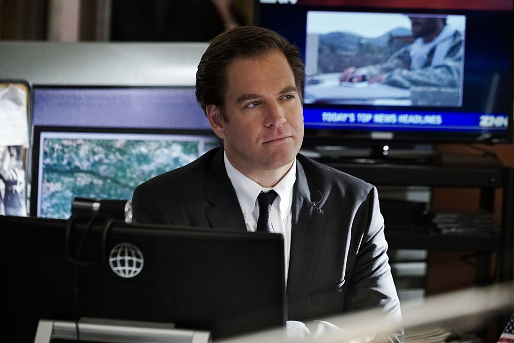 Michael Weatherly on set of NCIS    Jace Downs/CBS via Getty Images