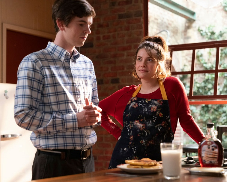 Freddie Highmore and Paige Spara