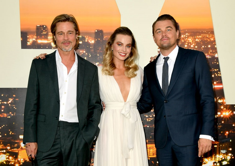 Brad Pitt, Margot Robbie, and Leonardo DiCaprio