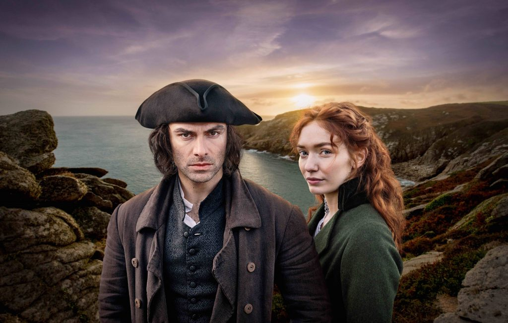 Aidan Turner as Ross and Eleanor Tomlinson as Demelza in Poldark